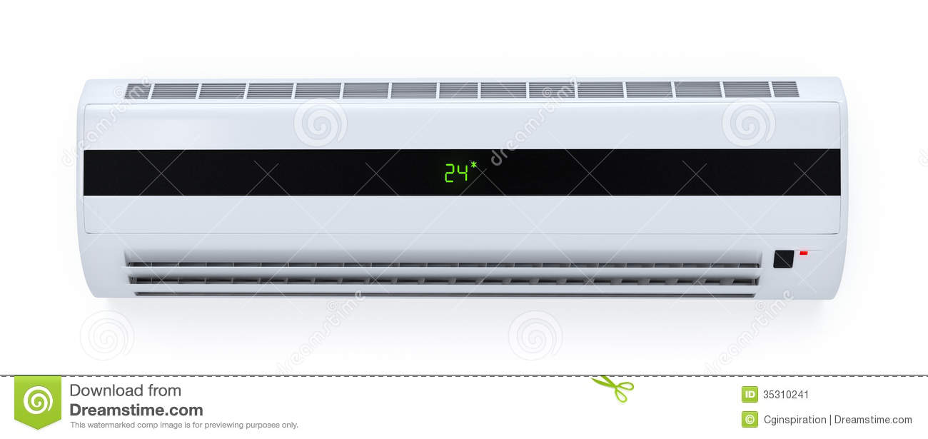 Modern Air Conditioner Stock Image Image Of Three
