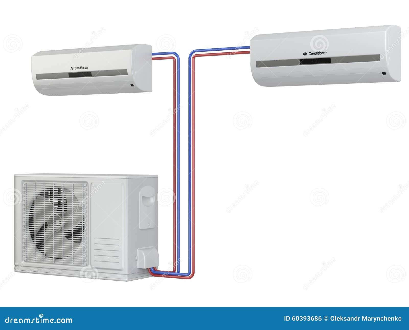 modern air conditioner system installation of equipment. Black Bedroom Furniture Sets. Home Design Ideas