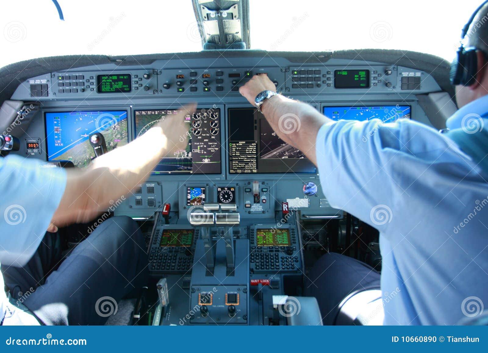 Modern airplane inflight