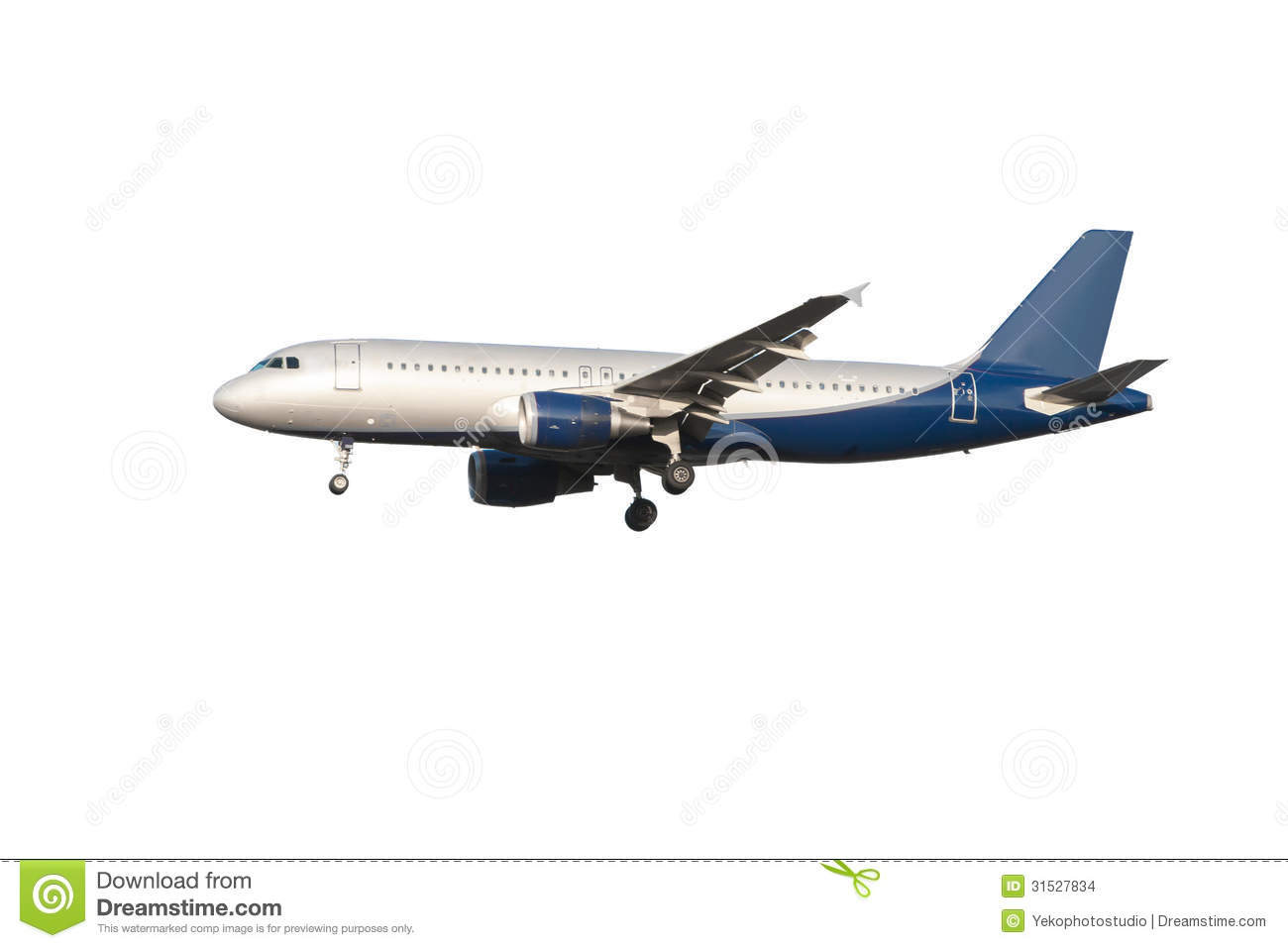 Modern Airplane On A White Background Stock Photo - Image ...