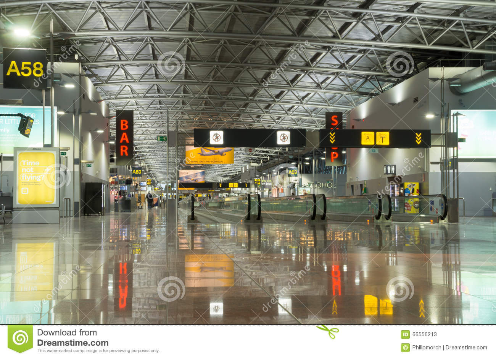Modern airport terminal, Brussels Airport, Belgium
