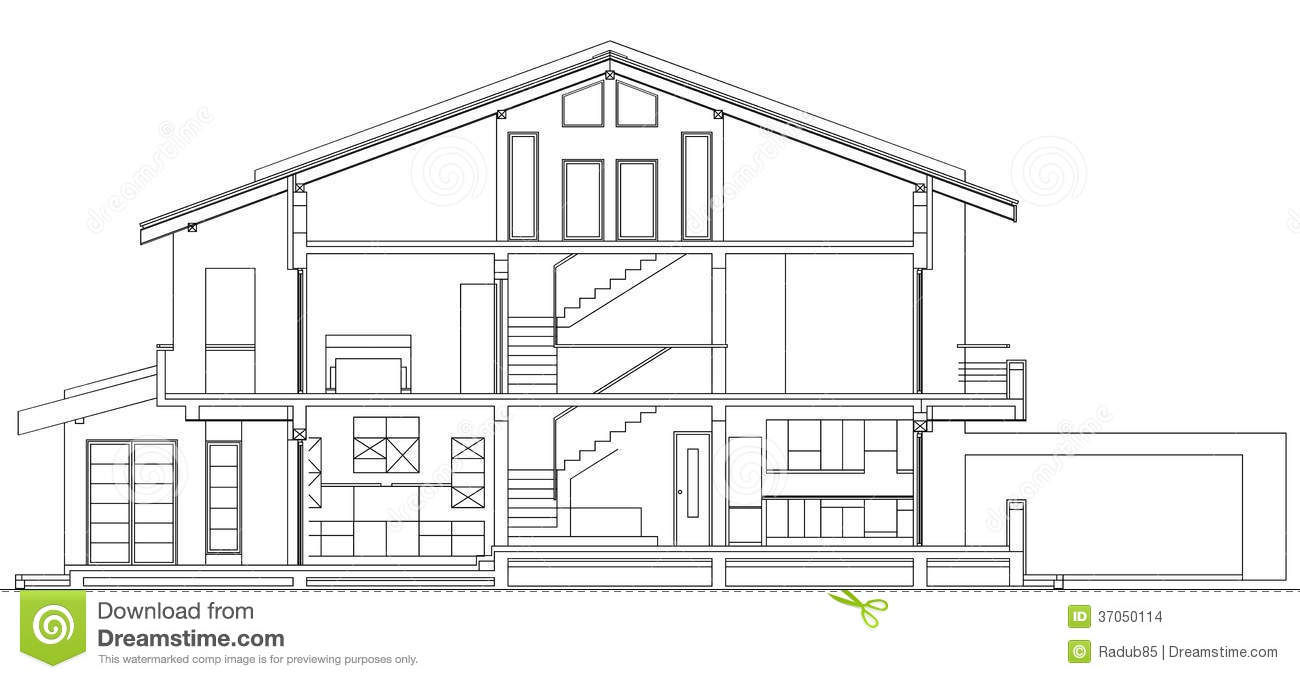 Stock Images Modern American House Facade Section Architectural Blueprint Vector Illustration Image37050114 in addition Octagon House Plans Blueprints in addition Shipping Container House Plan moreover House Interior Design besides Suburban House Project. on blueprint house townhouse