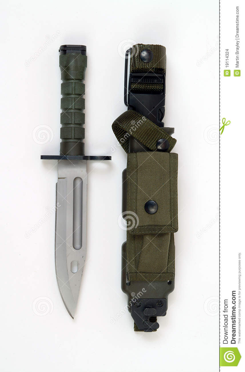Modern American M9 Bayonet Stock Images Image 19114324