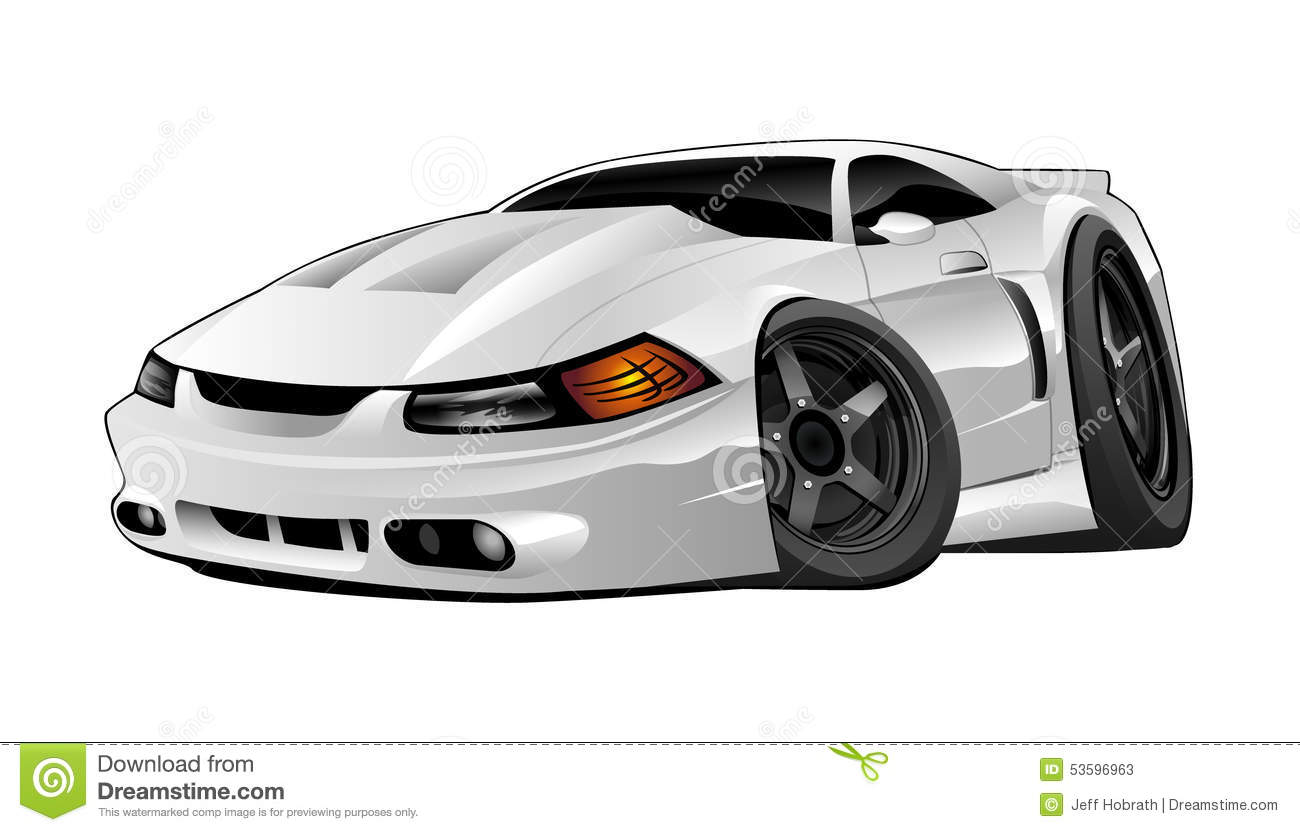 Modern American Muscle Car Stock Illustration Illustration Of