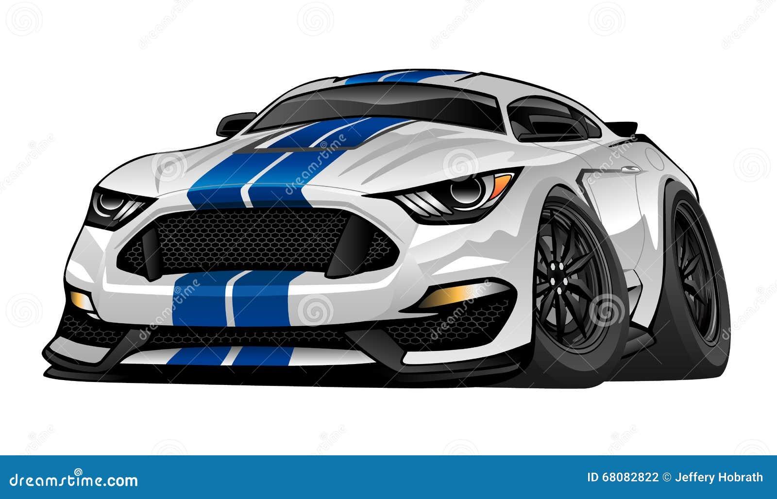Modern American Muscle Sports Car Illustration Stock