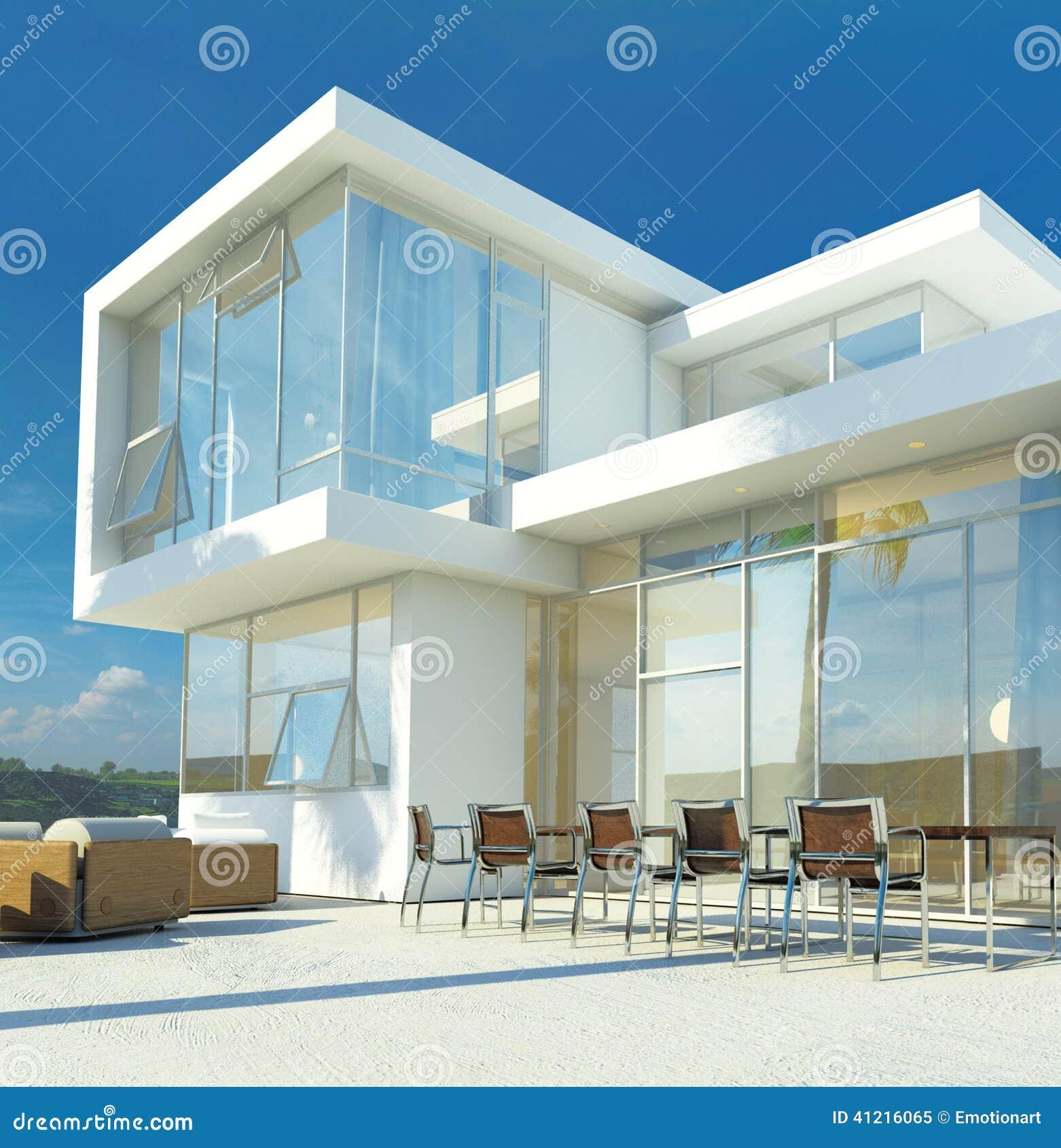 Modern angular luxury tropical villa