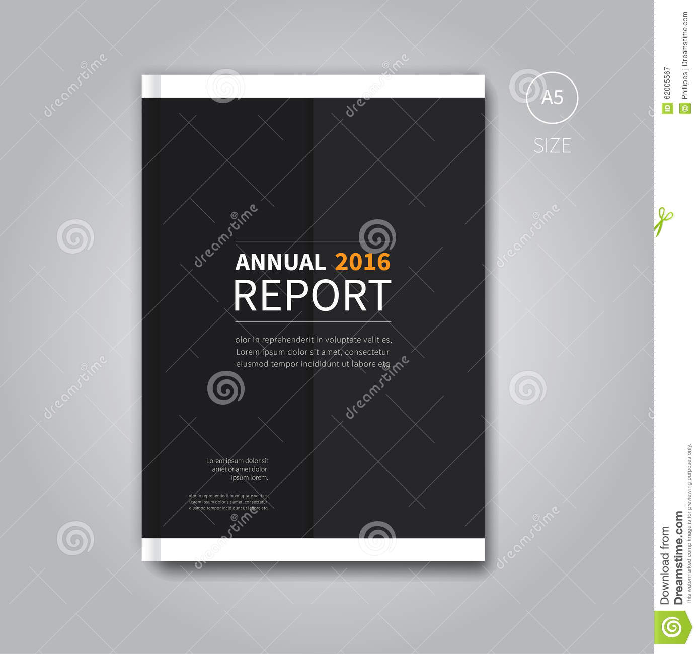 modern annual report book template stock illustration