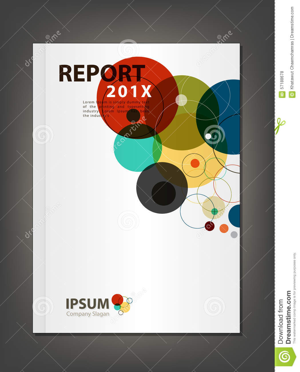 modern annual report cover design vector geometric spectrum them modern annual report cover design vector geometric spectrum them
