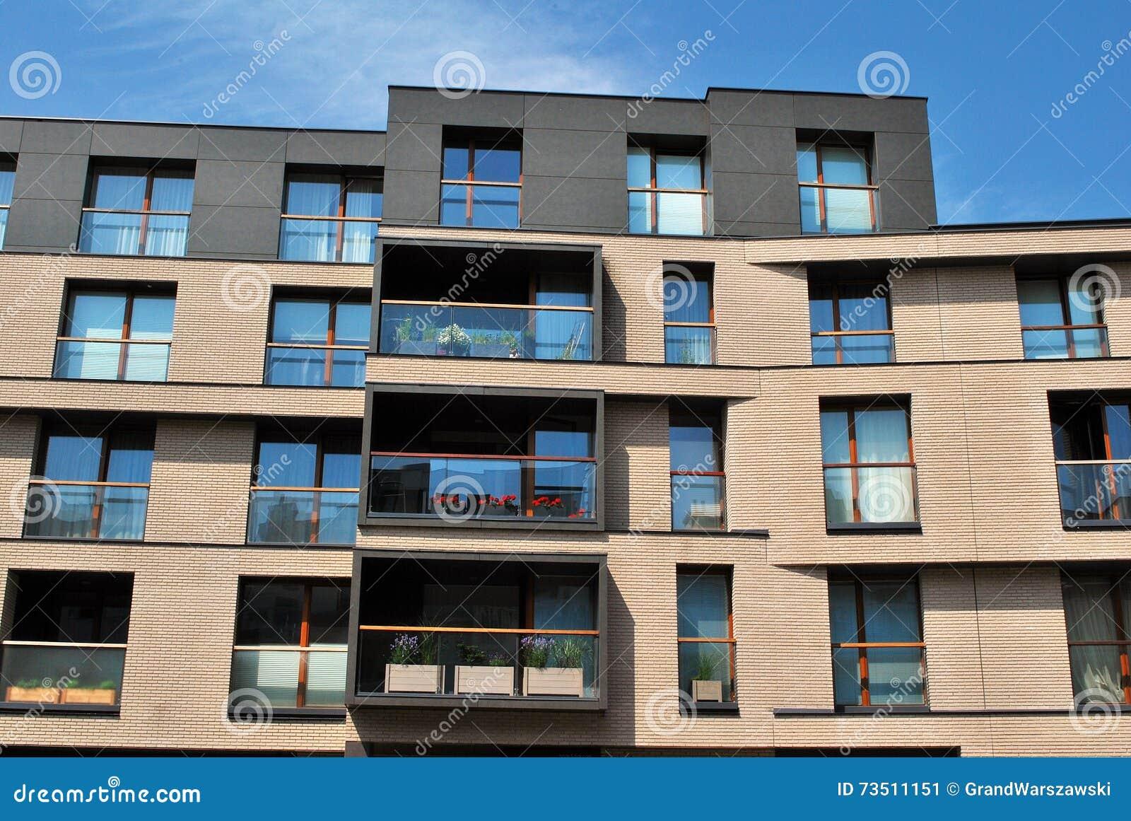 Modern Apartment Balcony At Sunset Stock Photo Image