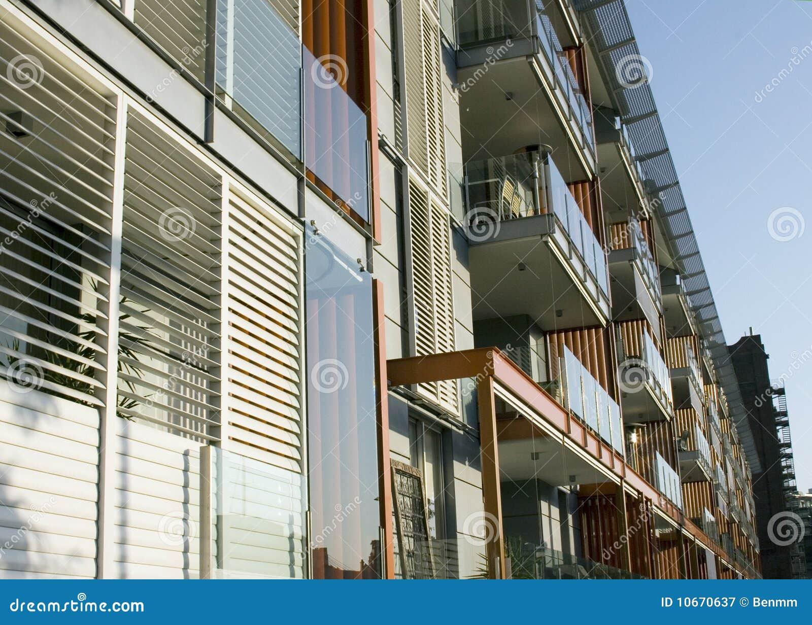 Modern Apartment Block Exterior Stock Image Image 10670637