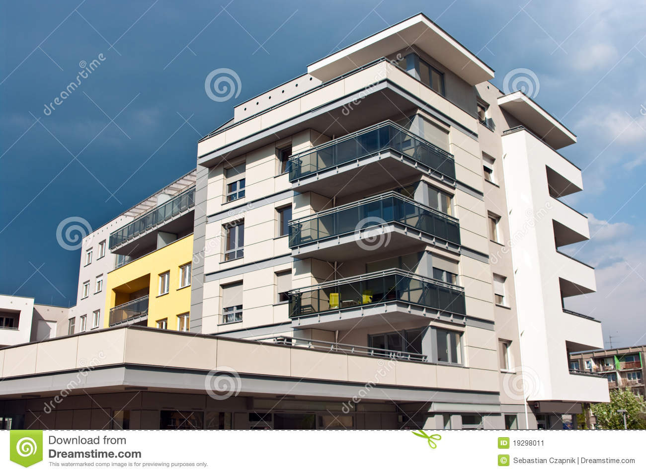 Modern Apartment Building Stock Image Image 19298011