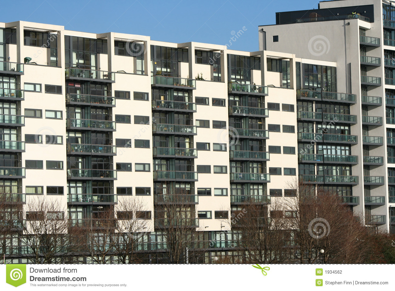 Modern Apartment Building modern apartment building stock photography - image: 1934562