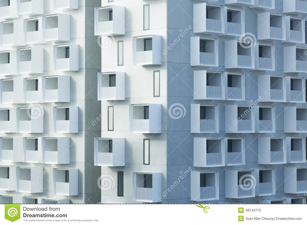 Abstract Apartment Background Balconies Building Modern