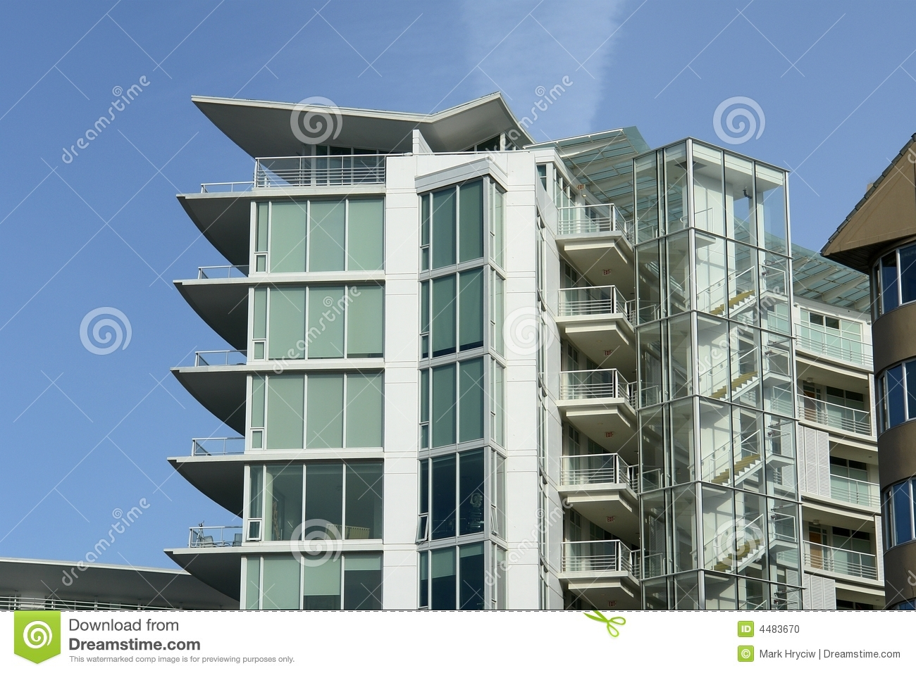 executive apartment building in the harbour of victoria british