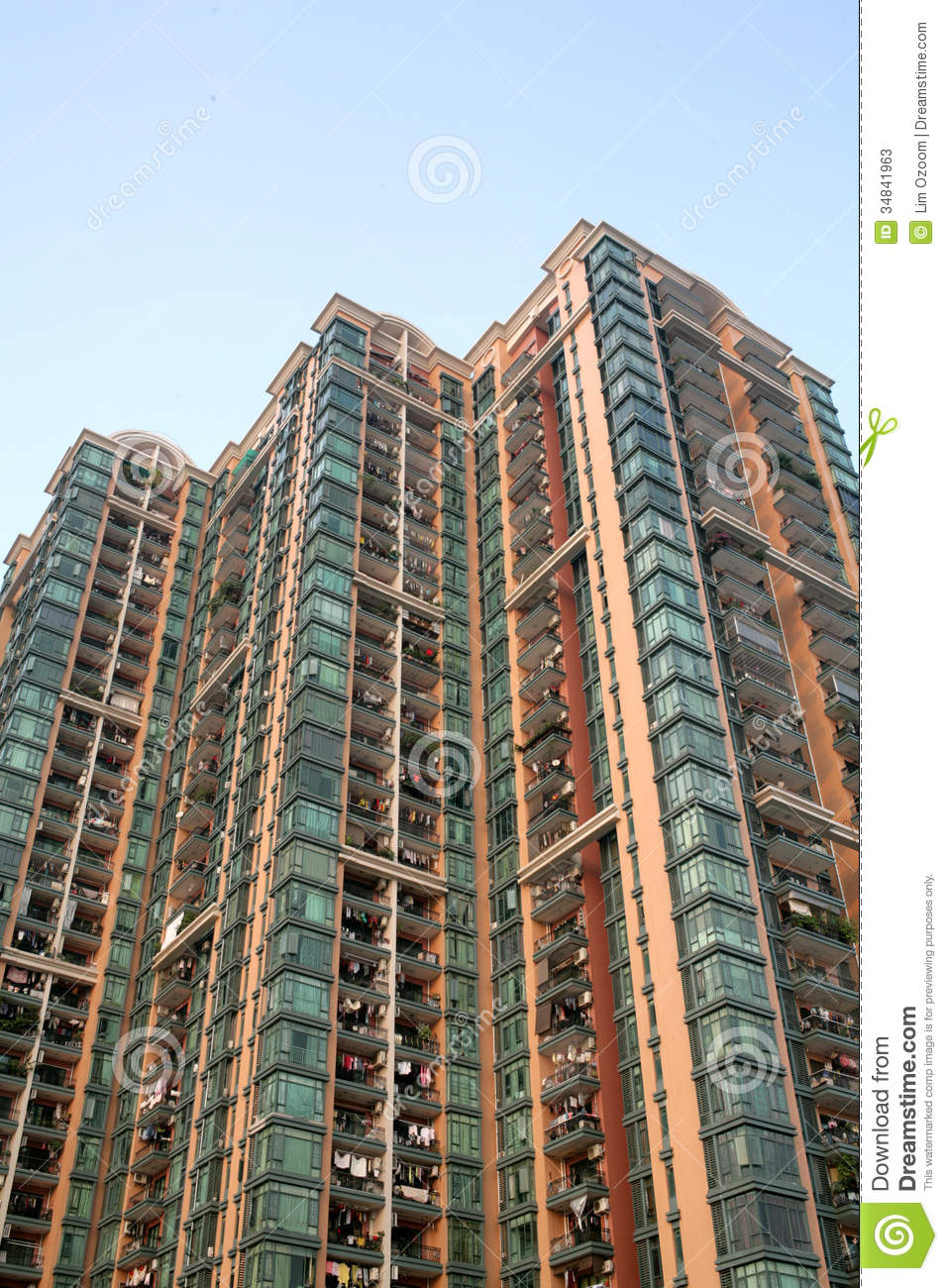 Modern apartment building stock photos image 34841963 for Big city apartments