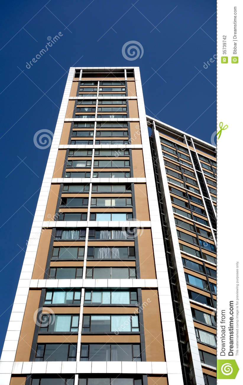 modern apartment building in china stock photography