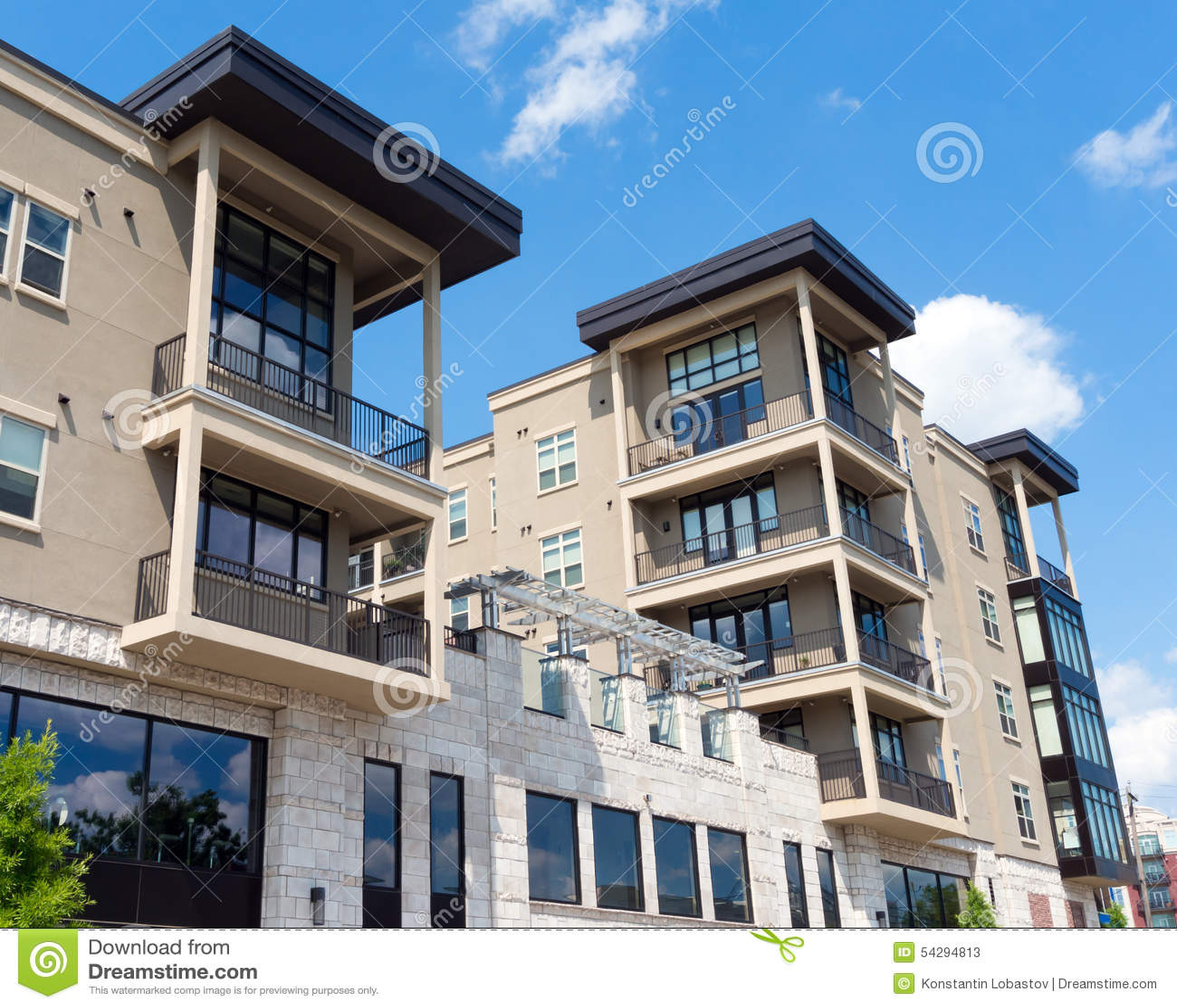 Apartment Building Exterior Mixed Modern