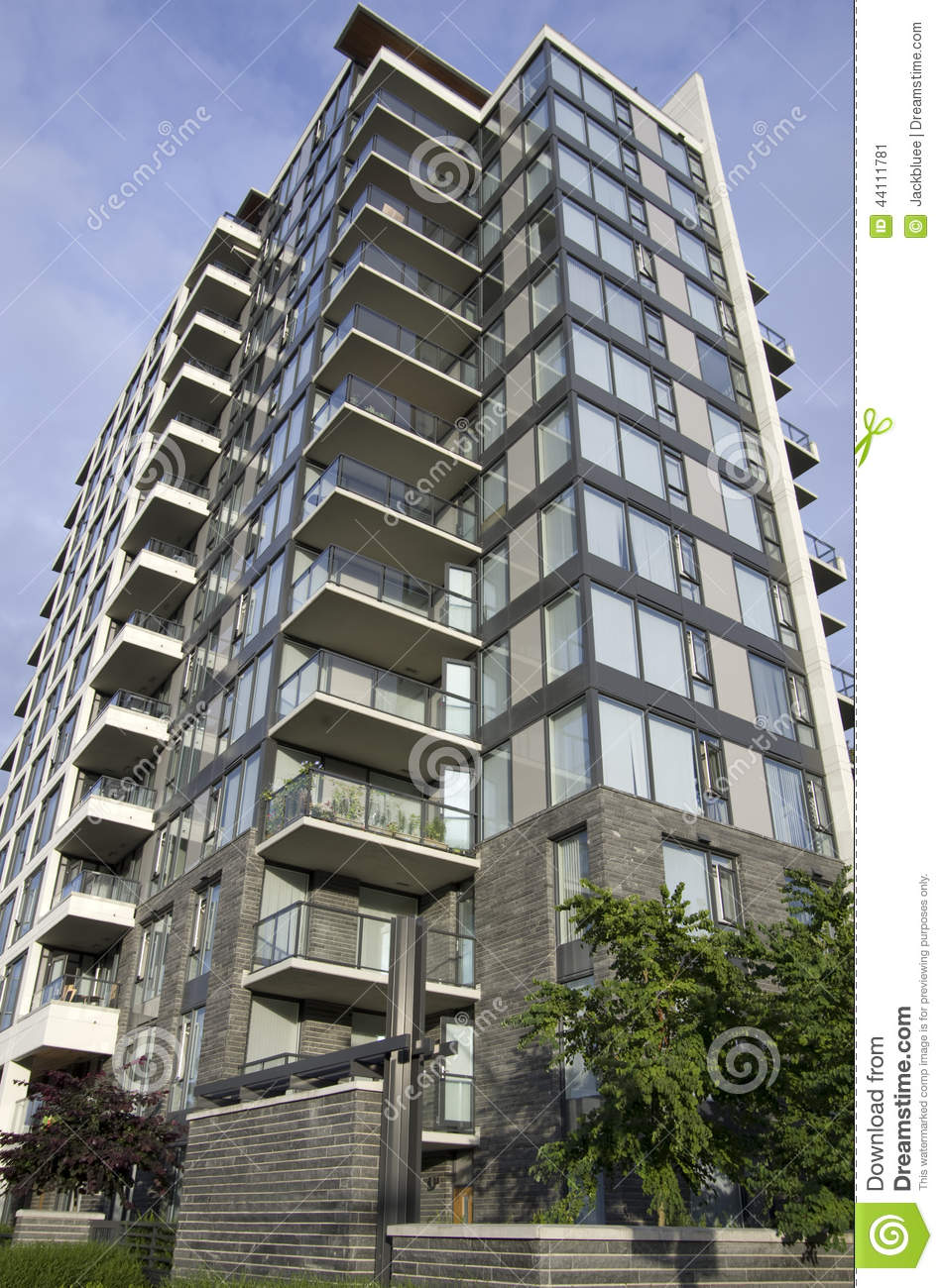 Modern apartment building stock image image of design for Building design