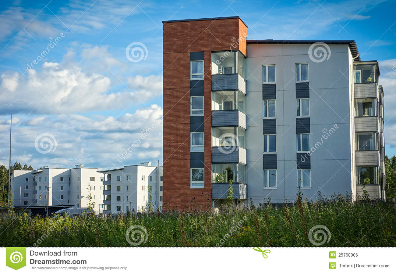Modern Apartment Buildings Royalty Free Stock Image Image 25768906