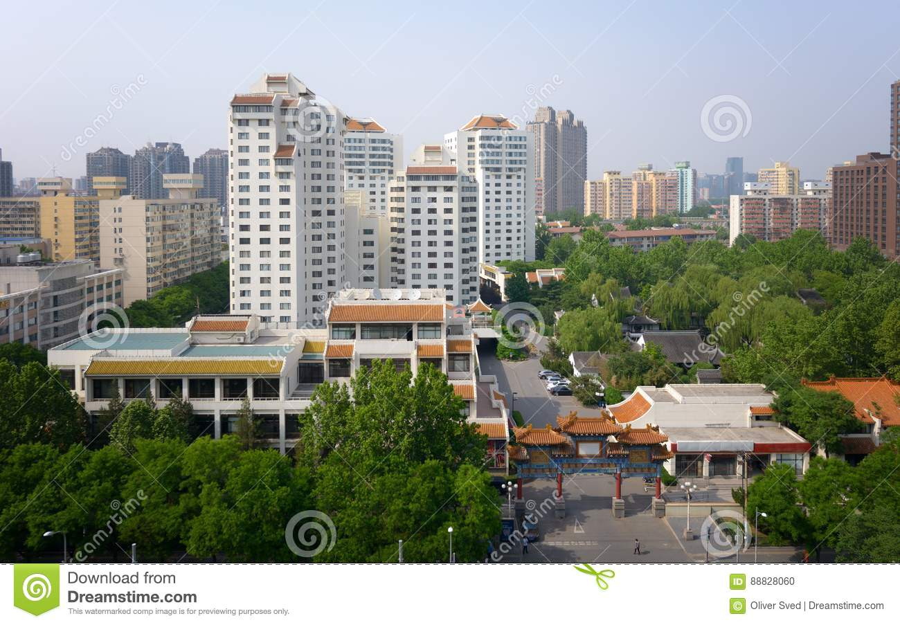 Modern apartment buildings in China, Beijing