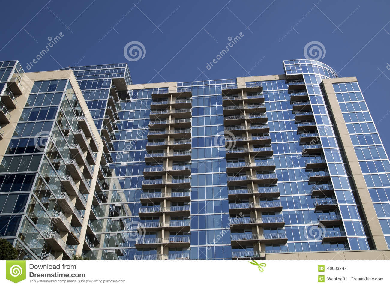 Modern apartment buildings with glass wall stock photo for Nice building images