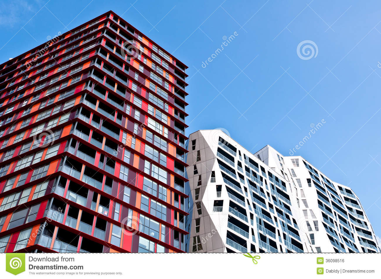 Modern apartment buildings royalty free stock image for New modern architecture
