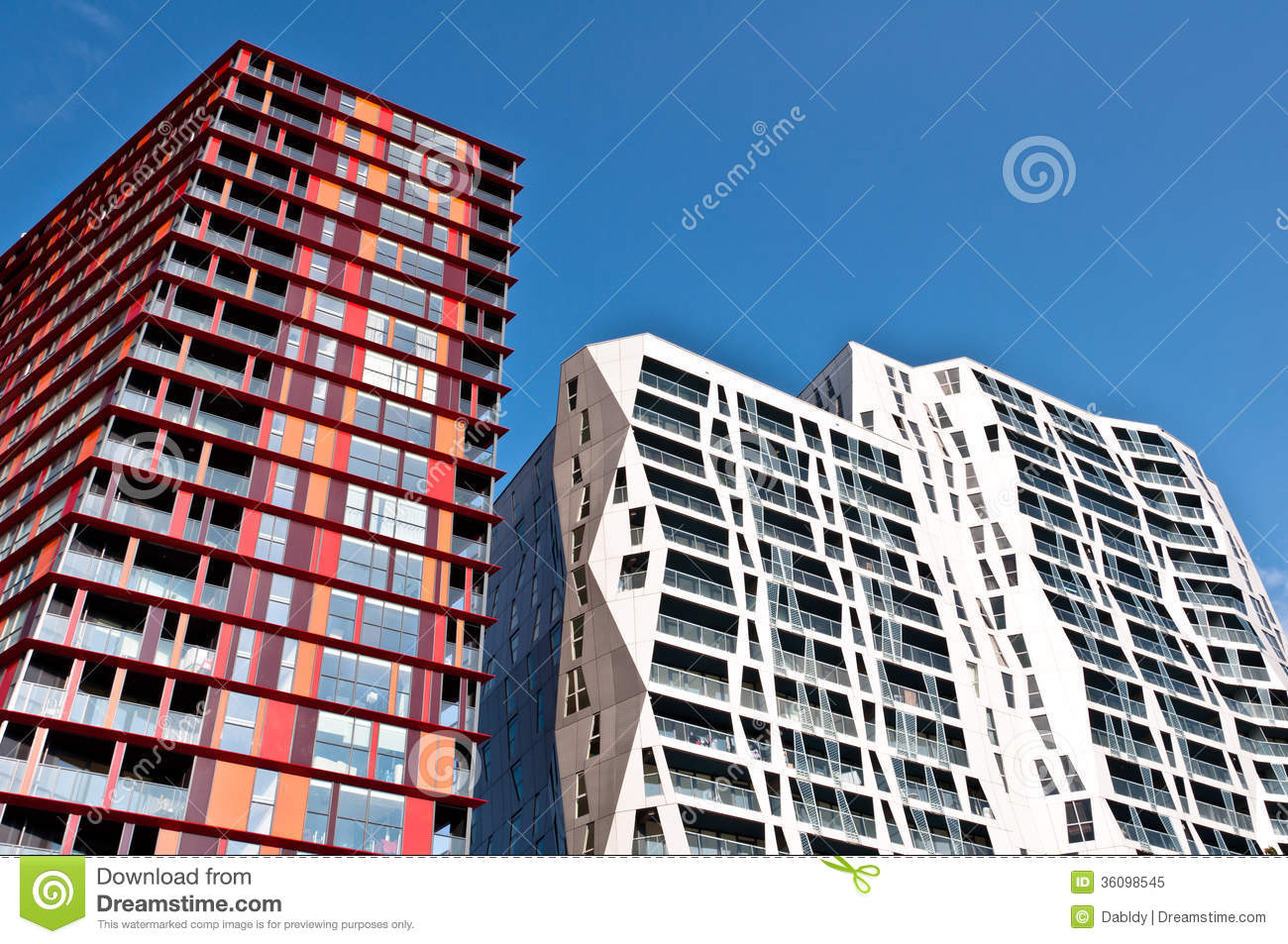 modern apartment buildings stock image image of