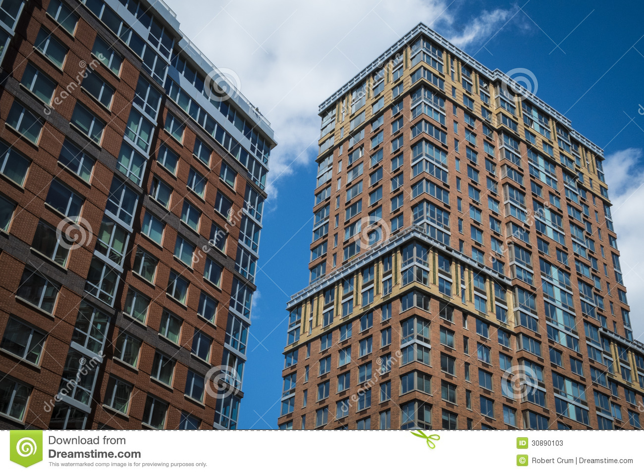 Modern apartment buildings stock image image of townhouse for Modern apartments nyc