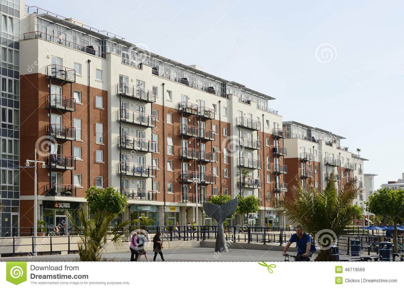 Modern Apartment Buildings Portsmouth England Editorial Stock Image Image