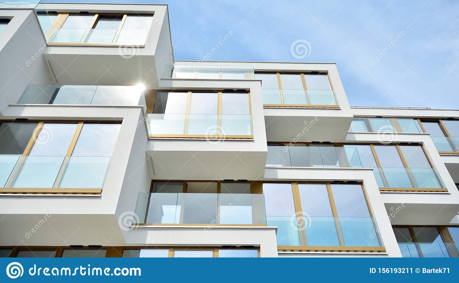 Contemporary Residential Building Exterior In The Daylight Stock Image Image Of Building Exterior 156193211