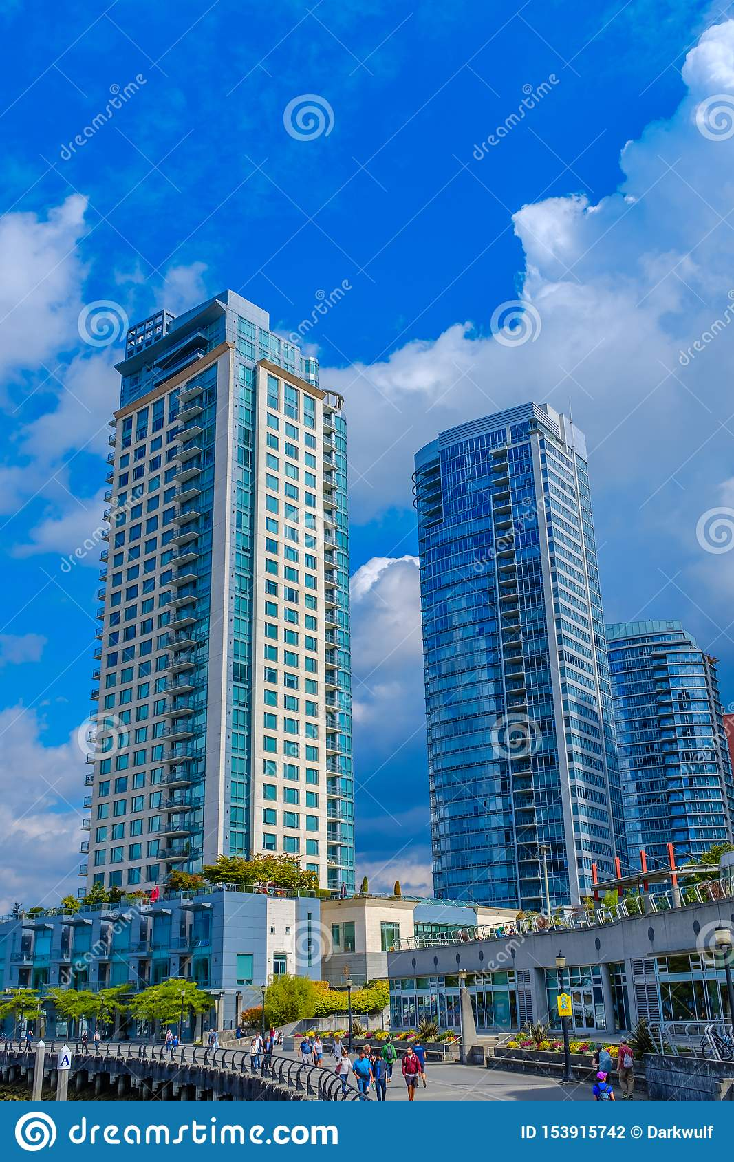 Modern Apartment Buildings At The Vancouver Waterfront ...