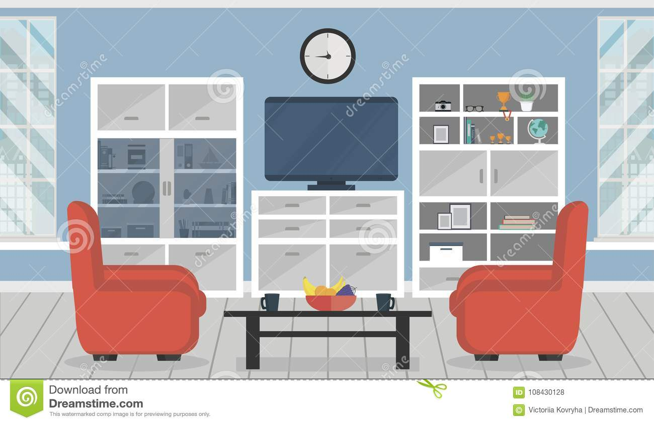 Modern Apartment. Cozy Living Room Interior With Furniture Stock ...