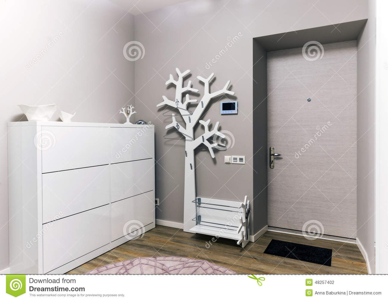 Modern apartment hall stock photo image 48257402 for Apartment hall design