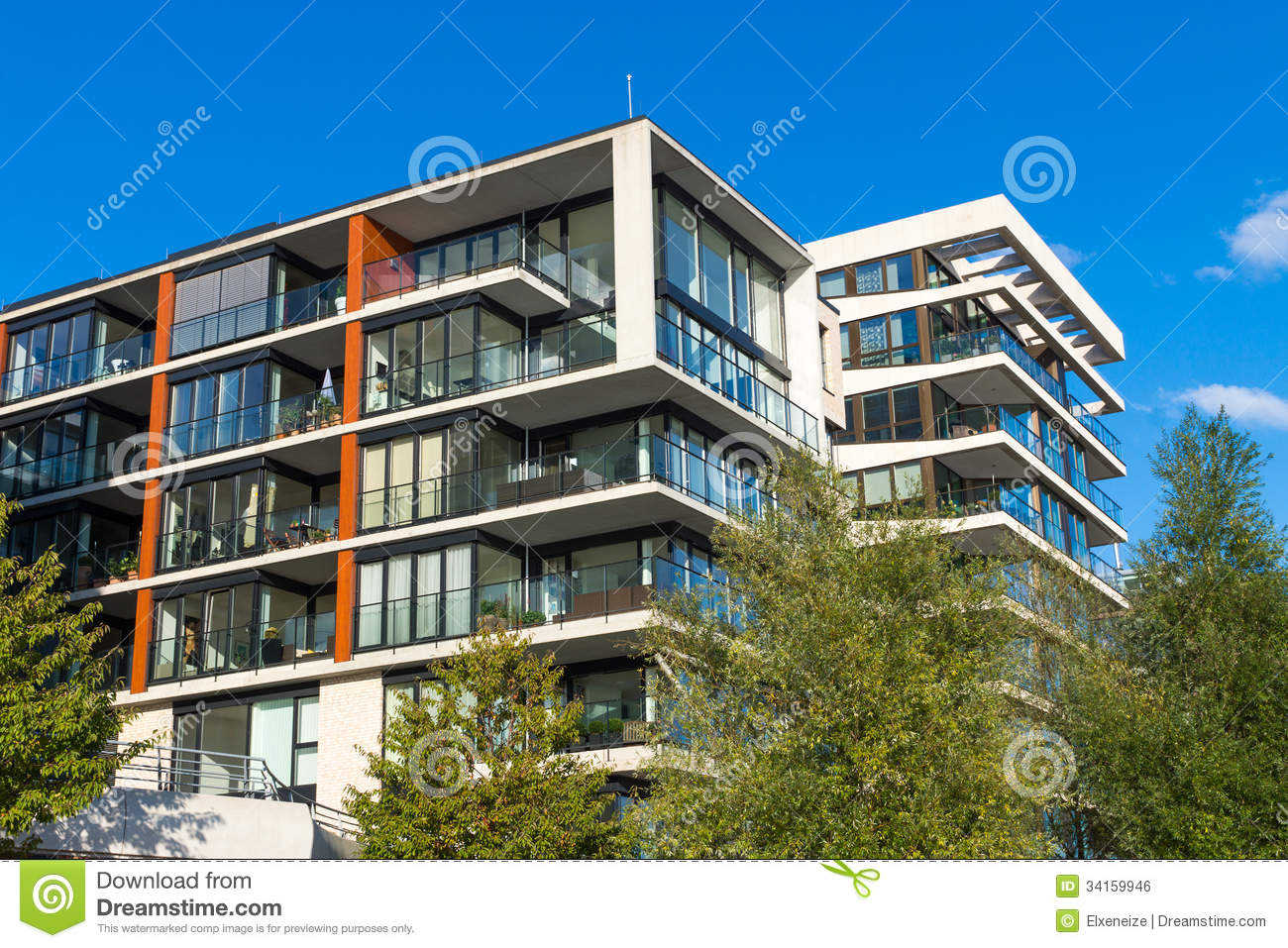 Apartment Houses Modern Apartment Houses In Hamburg Royalty Free Stock Image