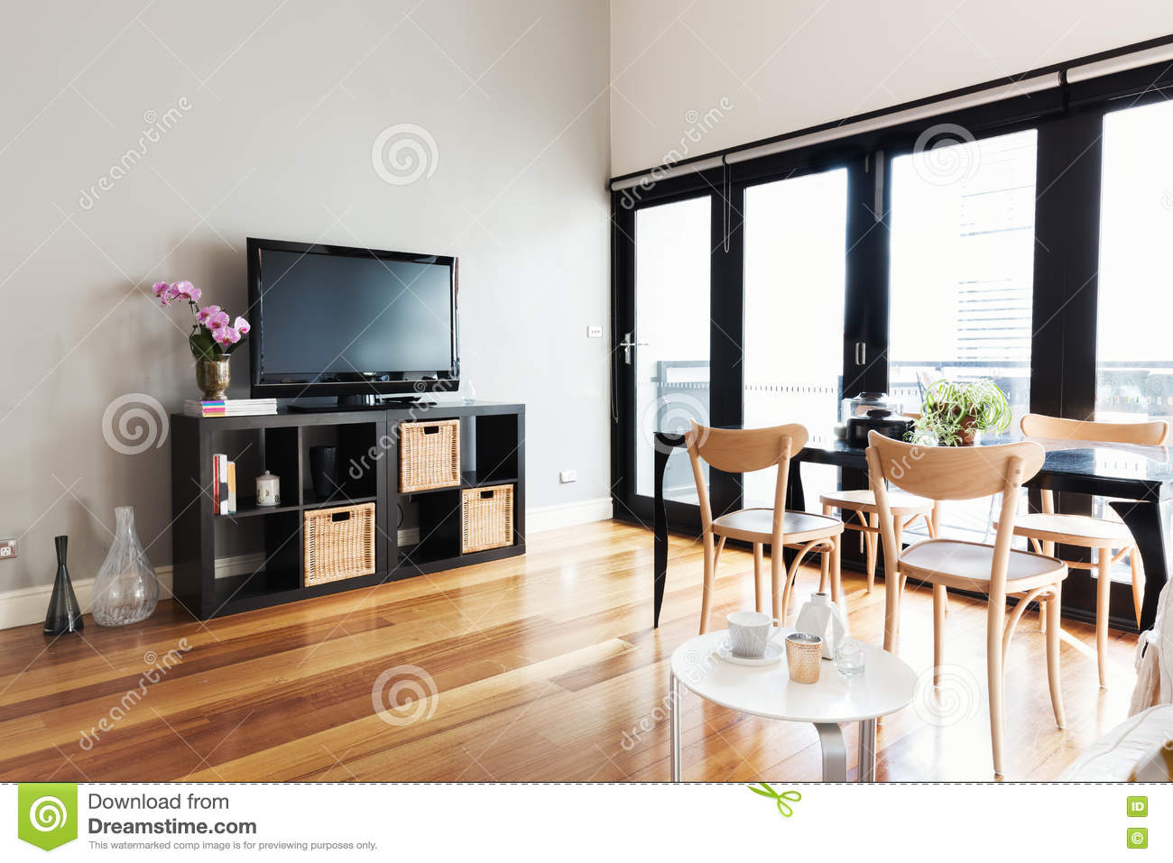 Royalty Free Stock Photo Download Modern Apartment Living Room With Bi Fold Door