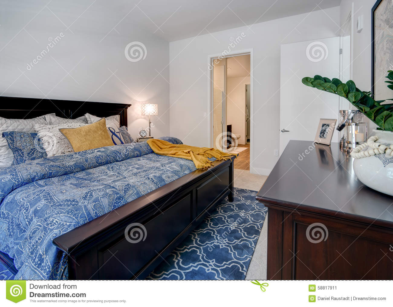 Modern Apartment Master Bedroom Stock Photo Image 58817911