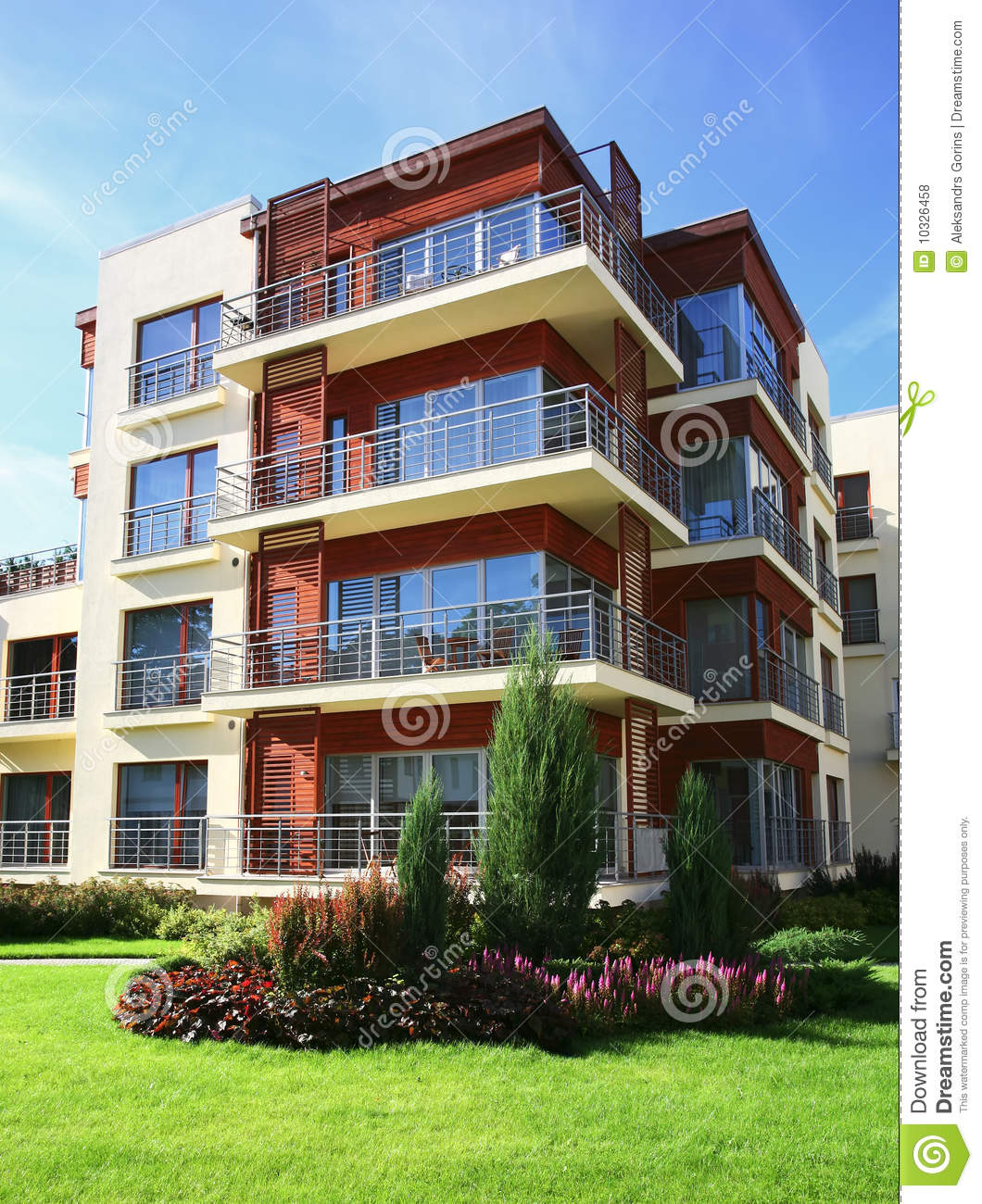 Modern Apartment: Modern Apartments Stock Photo. Image Of Architecture