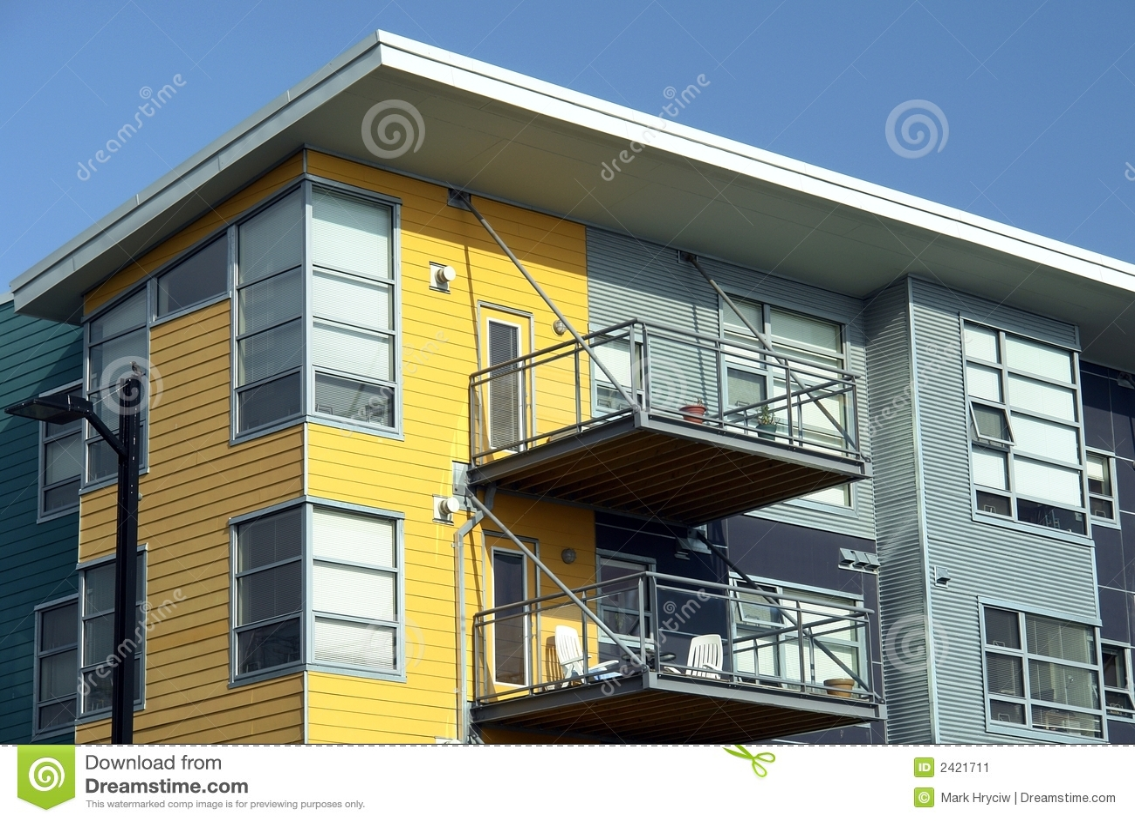 Modern Apartments modern apartments royalty free stock photo - image: 7726285