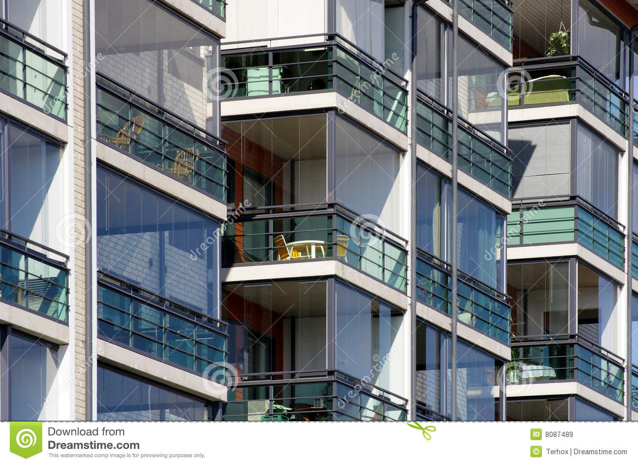Modern Apartments Close Up Royalty Free Stock Images Image