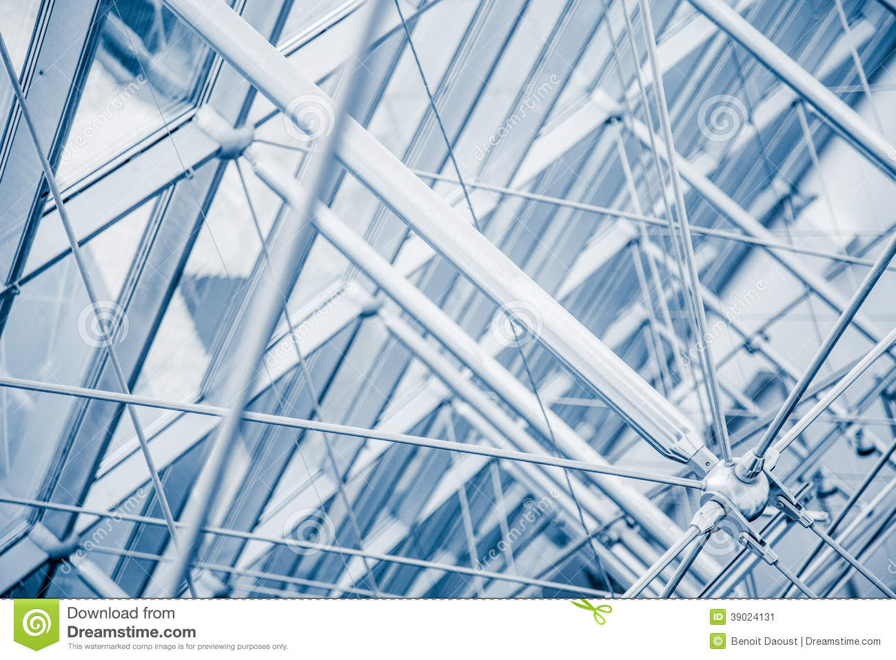 Modern Architectural Skylight Structure Details Stock