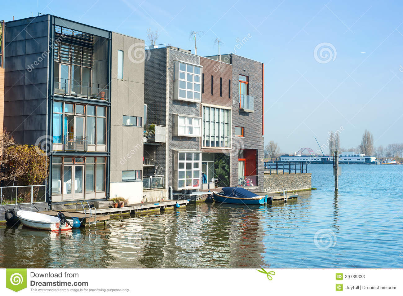 New Luxury House Plans Modern Architecture Amsterdam Stock Image Image Of