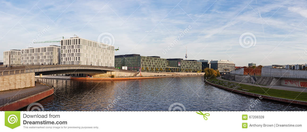Modern Architecture Berlin modern architecture on the banks of the river spree in berlin