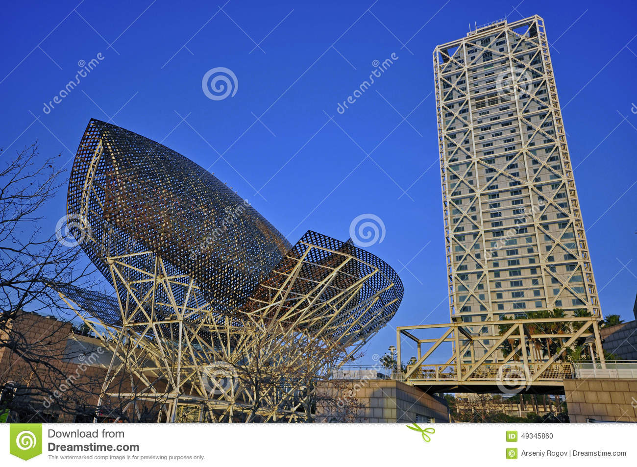 Modern Architecture Of Barcelona Editorial Image Image