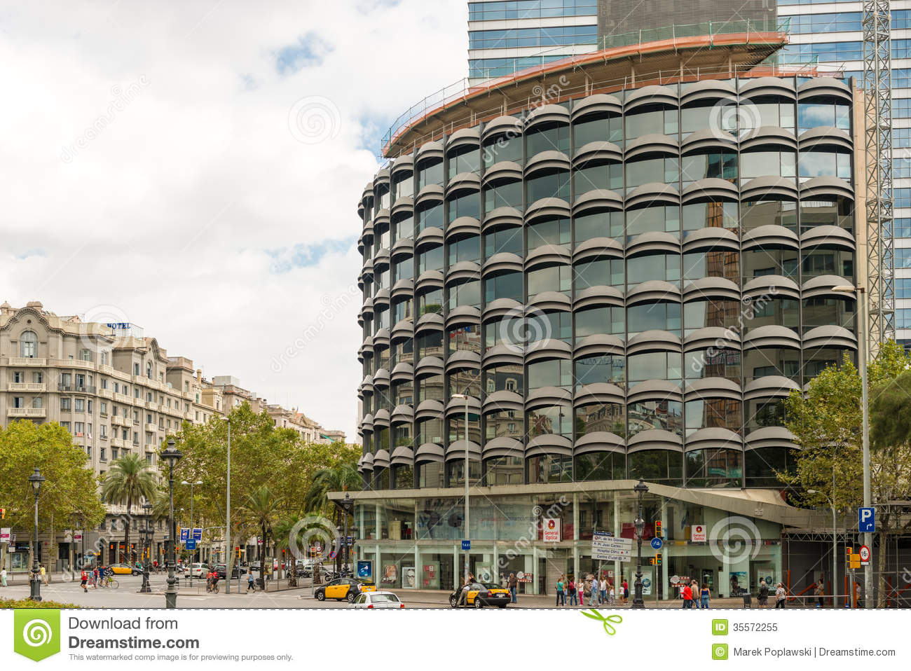 Modern Architecture In Barcelona Spain Editorial Stock Photo