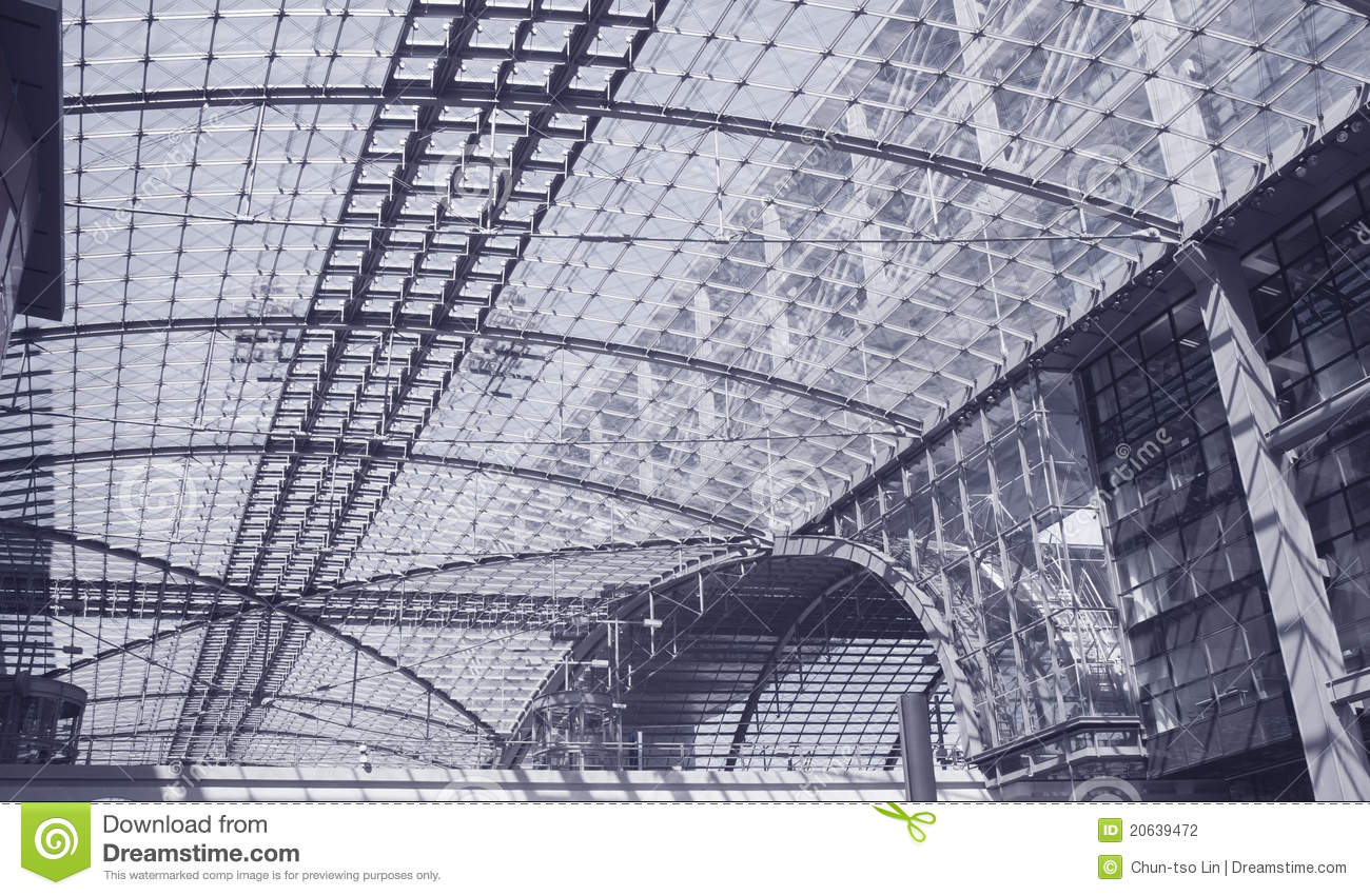 Modern Architecture Berlin modern architecture in berlin train station. stock photography