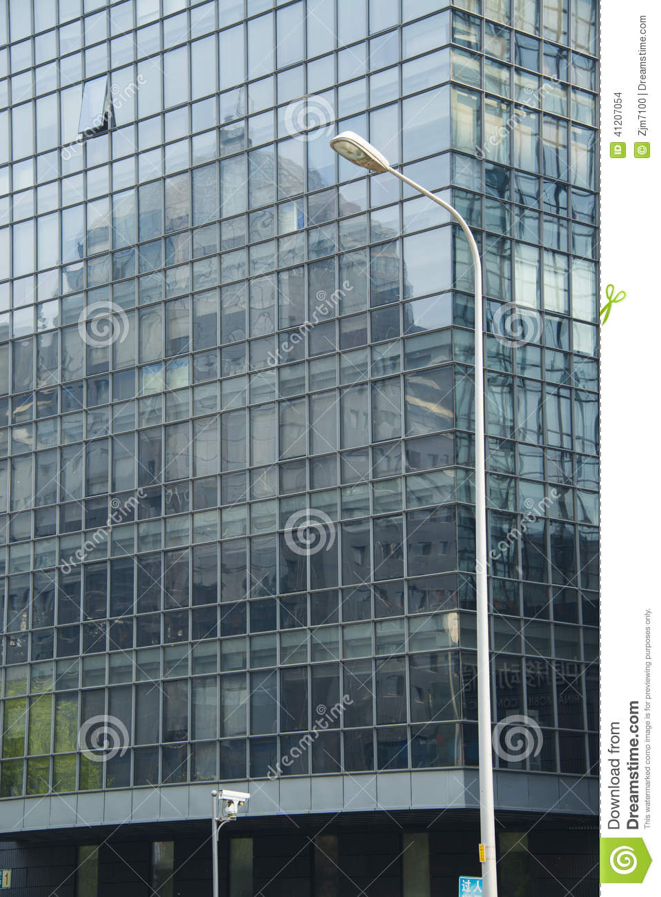 Glass Curtain Wall Architecture : Modern architecture building glass curtain wall stock