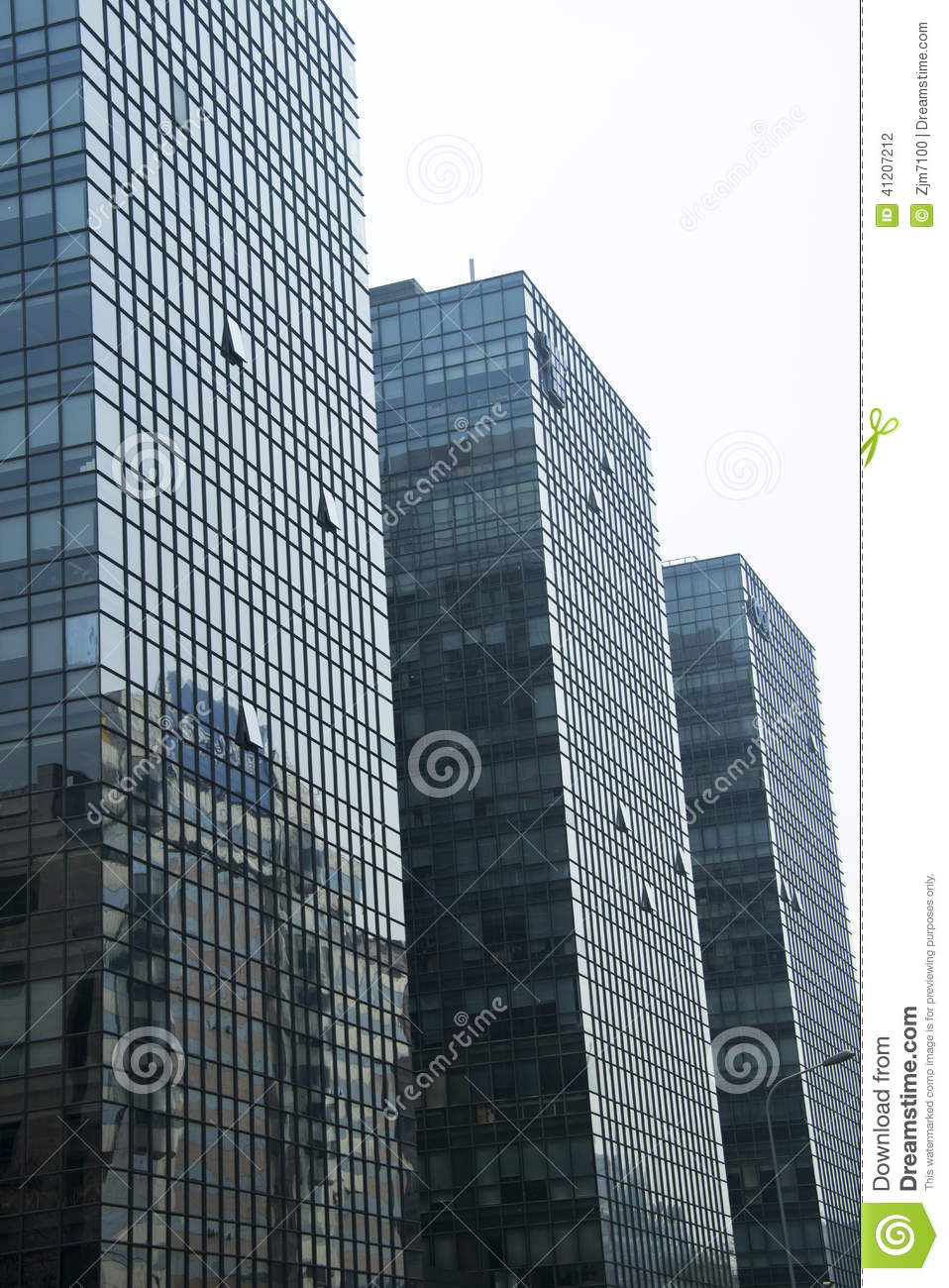 Modern Architecture Building Glass Curtain Wall Stock Photo