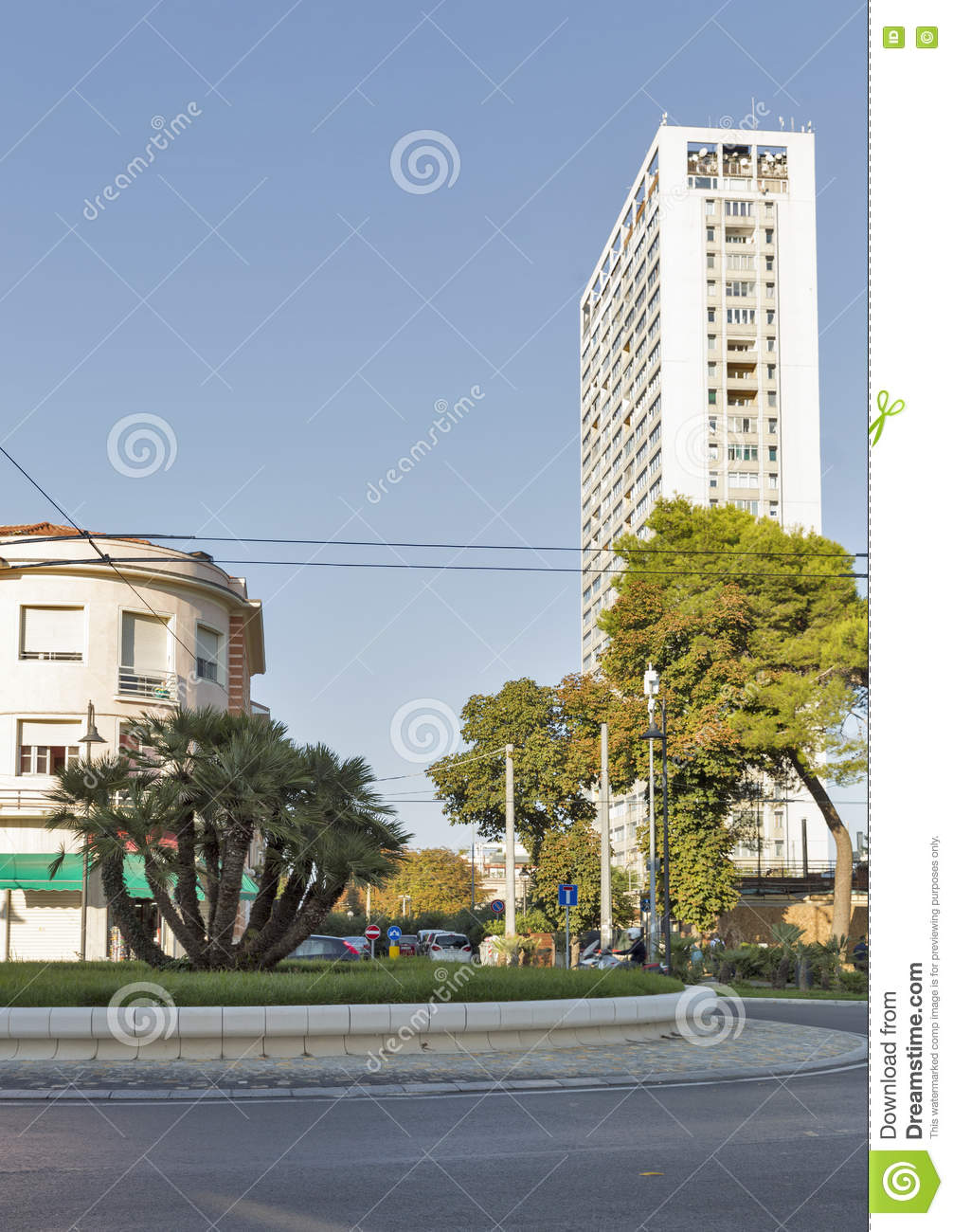 Modern Architecture Buildings In Rimini Italy Editorial Photo