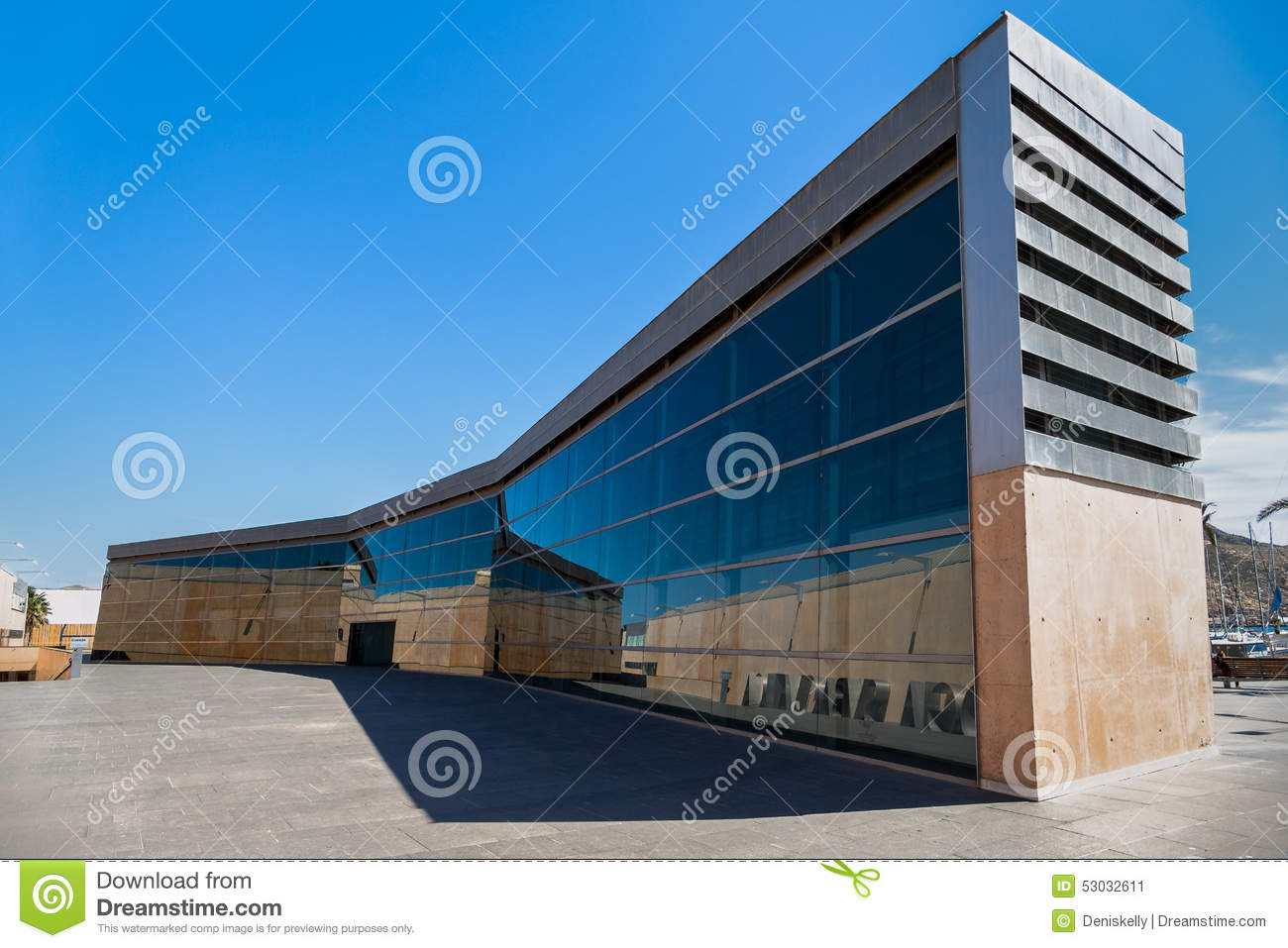 Modern Architecture Spain modern architecture in cartagena, spain editorial photo - image