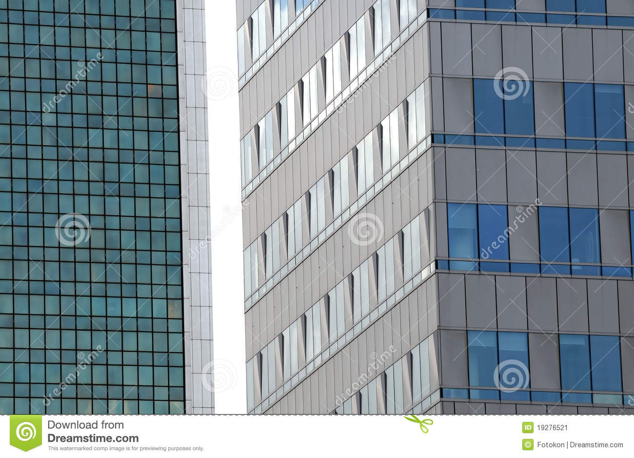 Modern Architecture Details Warsaw Poland Stock Image